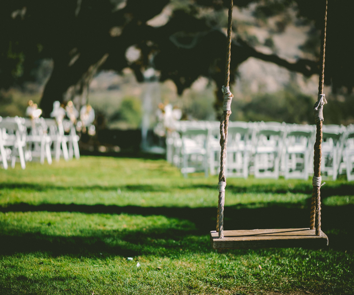 Tune Farm Weddings Pecan Grove Swing Chairs